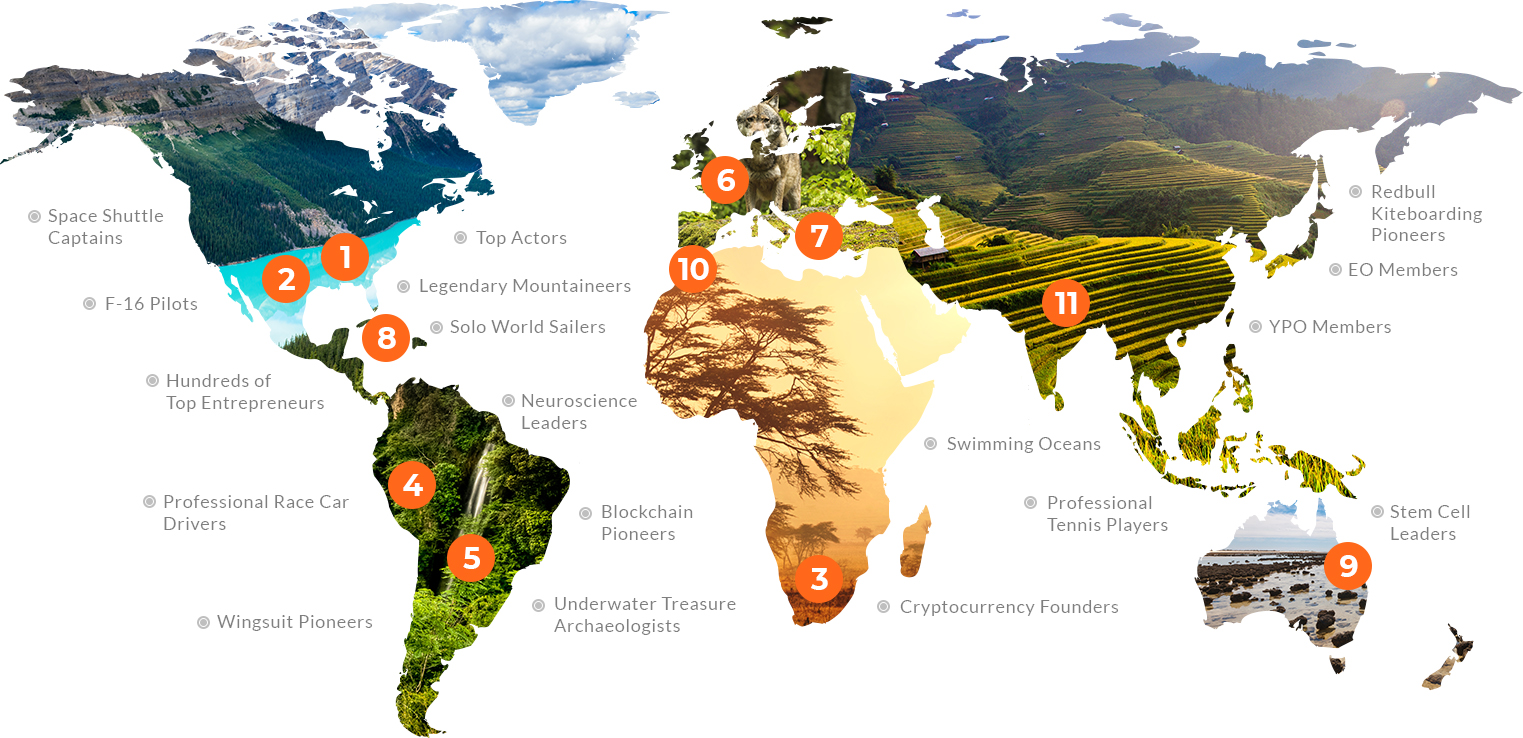 EPX Worldwide Map of Mega Achievers